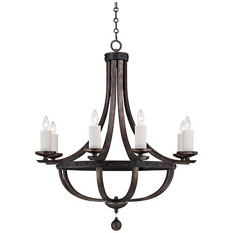 Savoy House Alsace 8-Light Wood Finish Chandelier