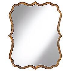 "Uttermost Spadola 30"" High Hammered Copper Wall Mirror"