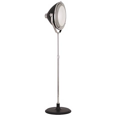 Robert Abbey Apollo Polished Nickel Directors Floor Lamp