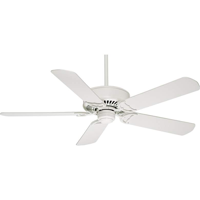 "54"" Casablanca Panama DC Snow White Ceiling Fan"