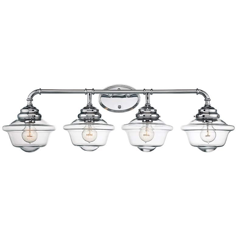 """Savoy House Fairfield 34 3/4""""W 4-Light Chrome Bath Light"""