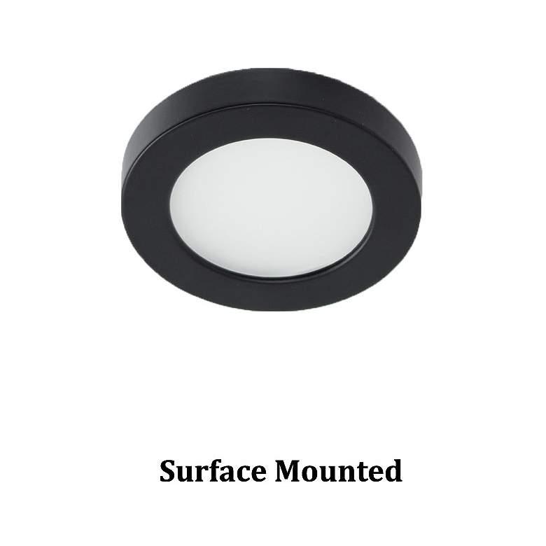 "WAC Edge Lit 3""W Round Black LED Button"