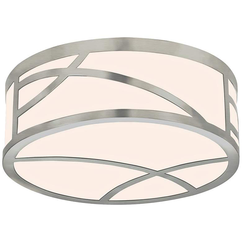 "Sonneman Haiku 12"" Wide Satin Nickel Round LED Ceiling Light"