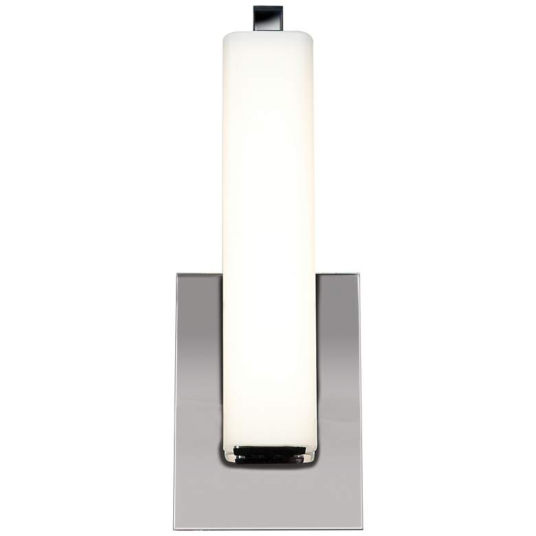 "Chic 4 3/4"" Wide Chrome Opal Glass LED"