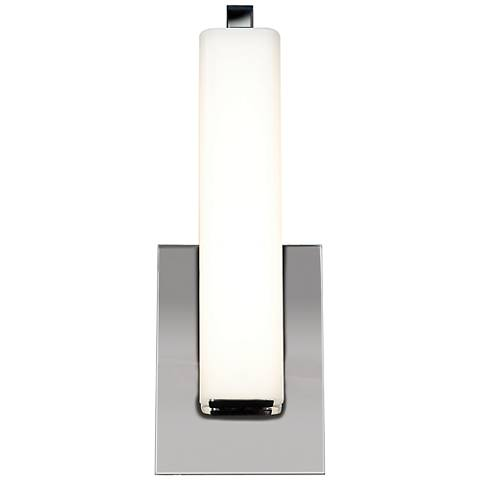 "Chic 4 3/4"" Wide Chrome Opal Glass LED Wall Sconce"