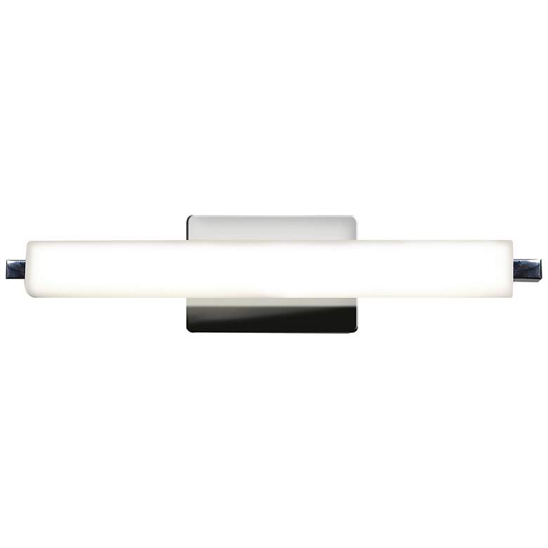 "Chic 19"" Wide Chrome Opal Glass Linear LED"