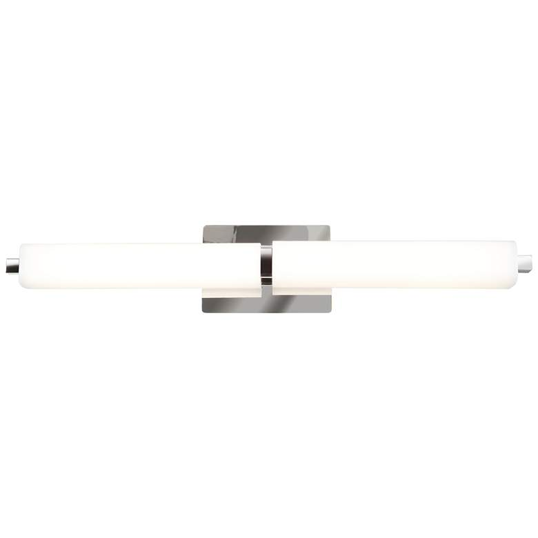 "Chic 26"" Wide Chrome Opal Glass Linear LED"
