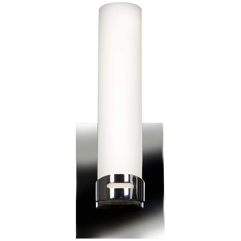 "Chic 4 1/2"" Wide Chrome Opal Glass LED"