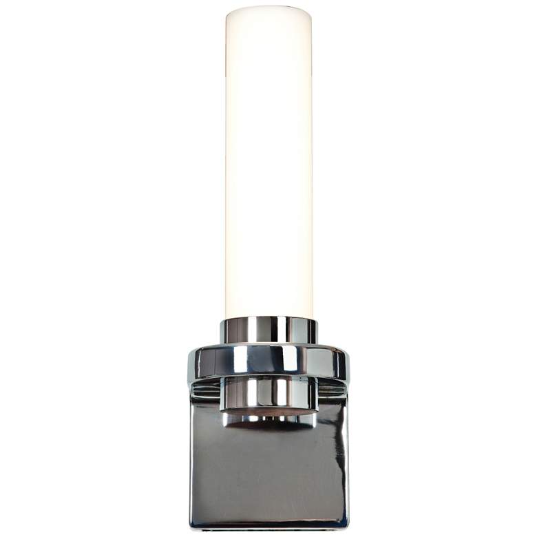 """Chic 4 1/4"""" Wide Opal Glass Chrome LED Wall Sconce"""