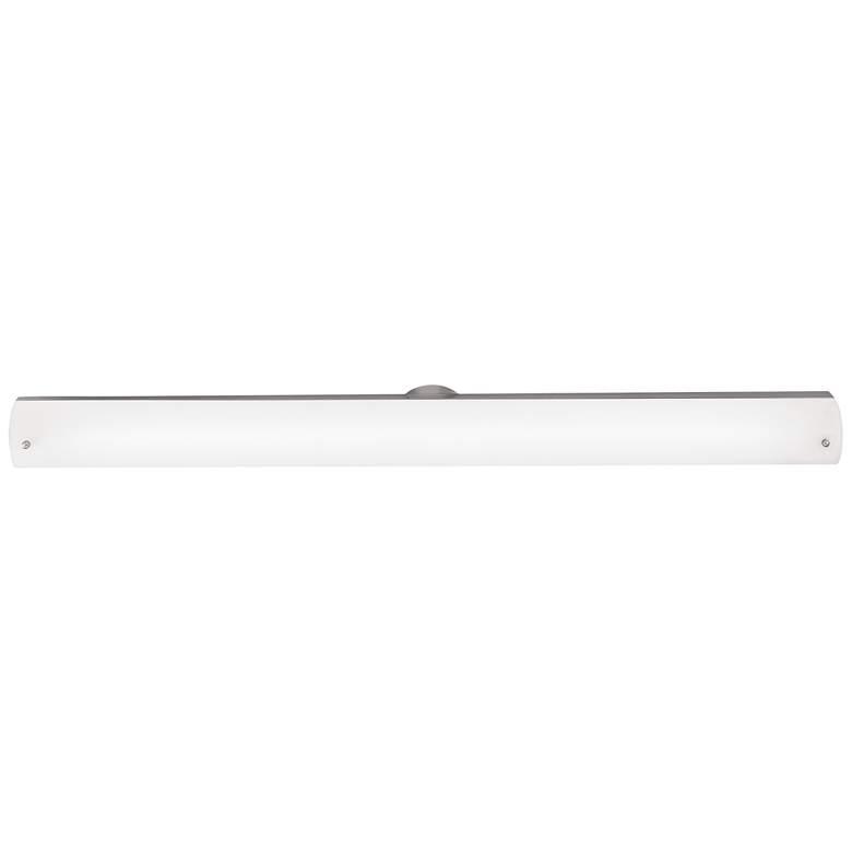 "Vail 37 1/2"" Wide Brushed Steel Opal Glass LED Bath Light"