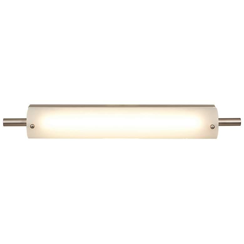 "Vail 22 1/2"" Wide Brushed Steel Opal Glass LED Bath Light"