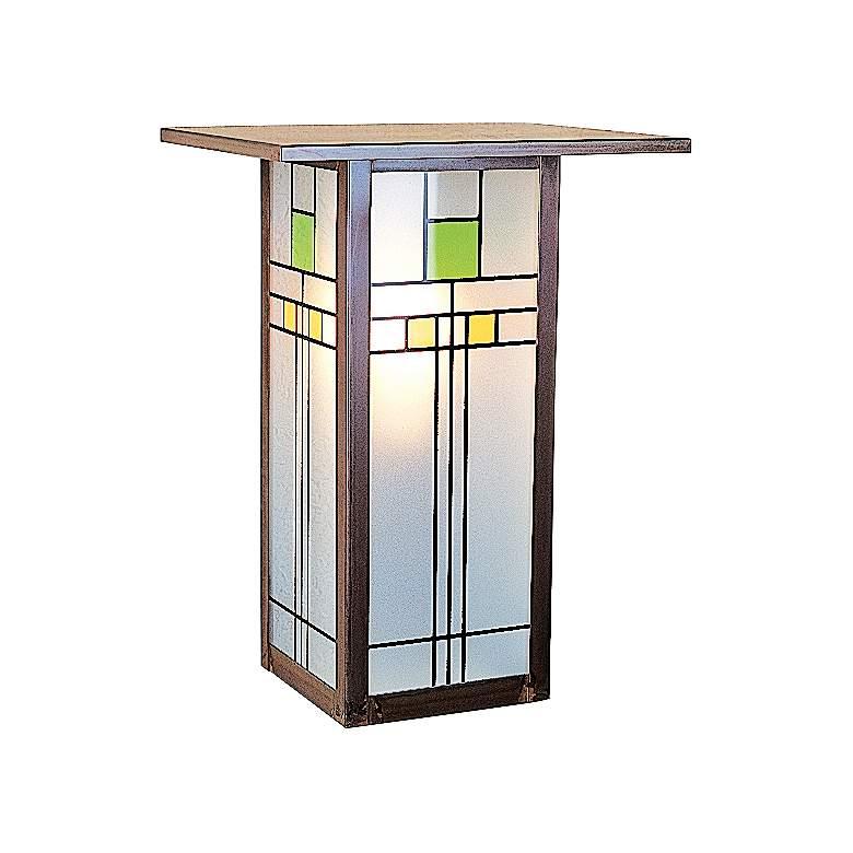 """Franklin 12""""H Silkscreen White Glass Outdoor Wall Light"""
