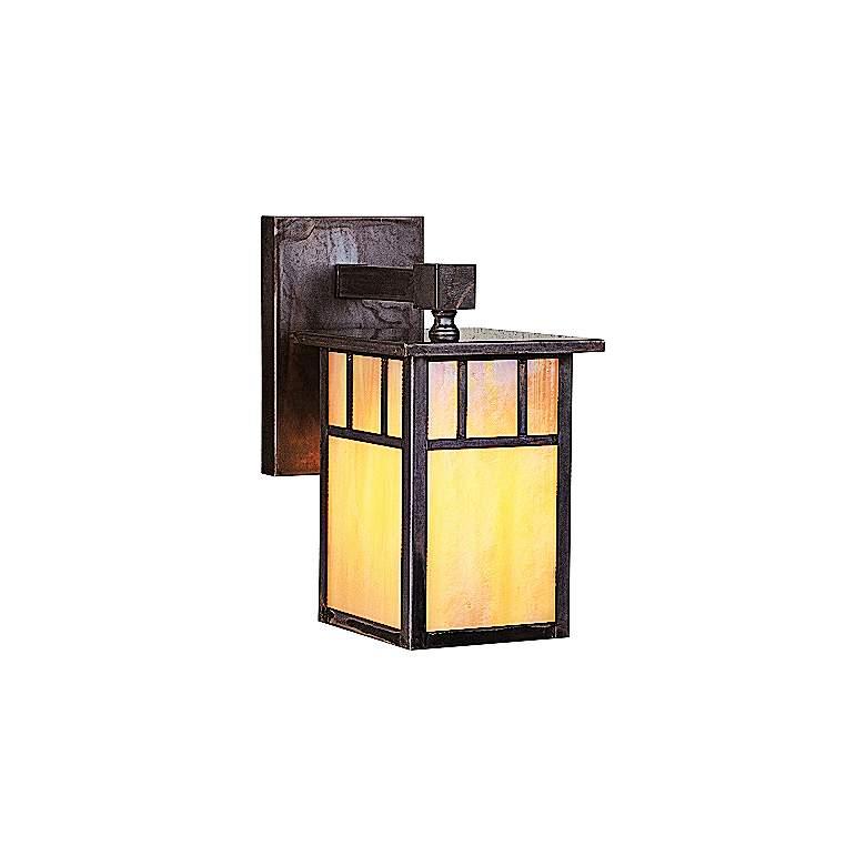 "Huntington 8 3/4"" High Iridescent Gold Outdoor Wall Light"