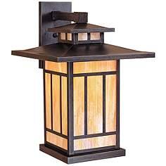 Arroyo craftsman outdoor lighting lamps plus kennebec 17 12 high iridescent gold outdoor wall light aloadofball Gallery