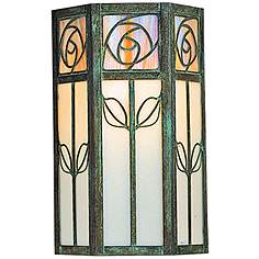 Arroyo craftsman outdoor lighting lamps plus saint clair 12 high floral 2 glass outdoor wall light mozeypictures Images