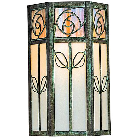 "Saint Clair 12"" High Floral 2-Glass Outdoor Wall Light"