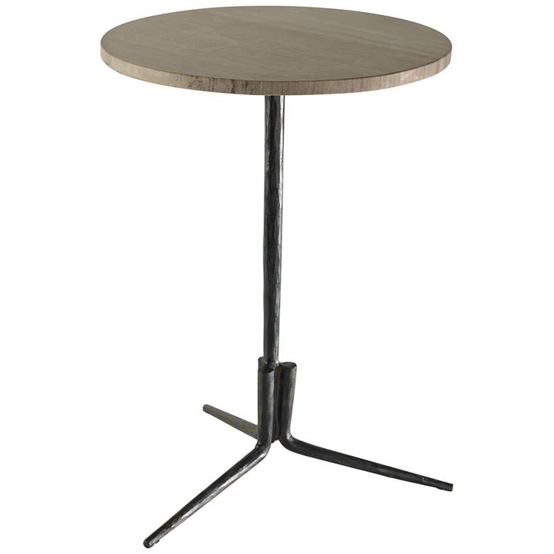 Global Views Elevate Natural Iron Marble Top Accent Table
