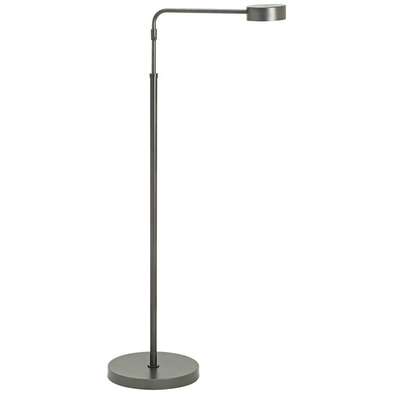 Generation Adjustable Granite Gray LED Floor Lamp