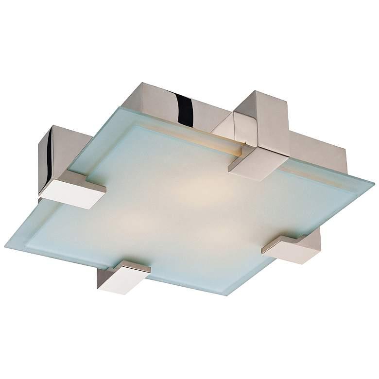 """Sonneman Dakota 19"""" Wide Polished Chrome Ceiling Light"""