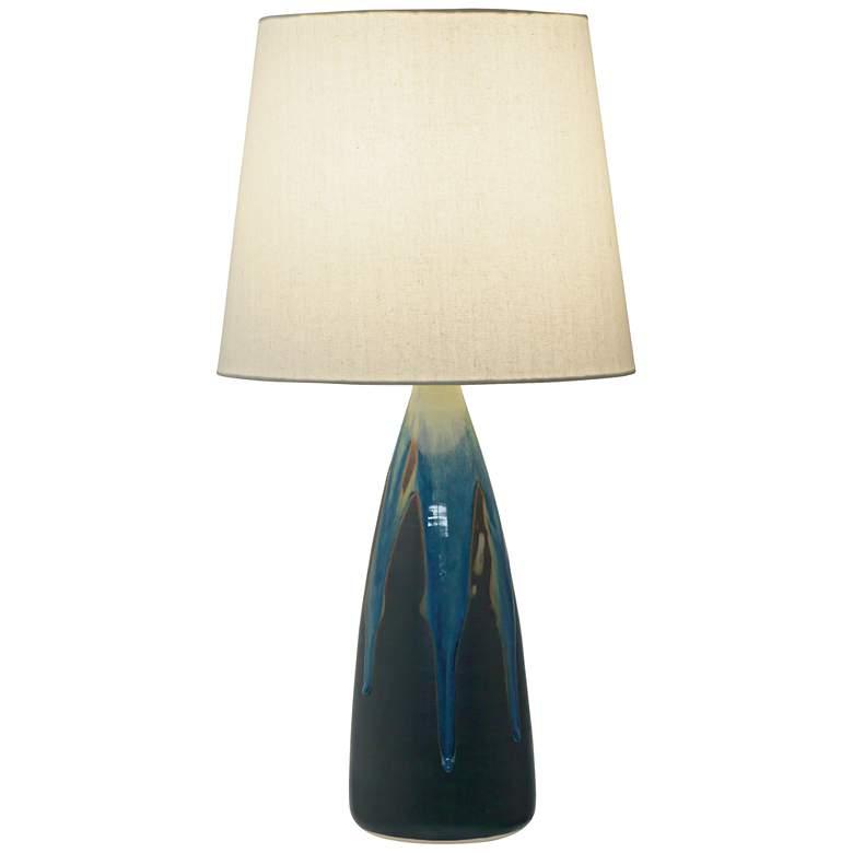 "Scatchard Stoneware 25 1/2"" High Kaleidoscope Table Lamp"