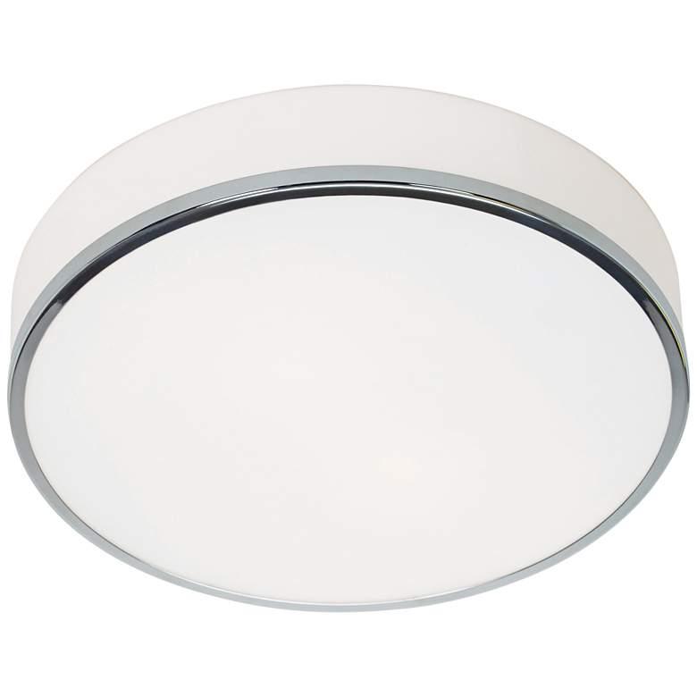"Aero 12 1/2"" Wide Chrome and Opal Glass"
