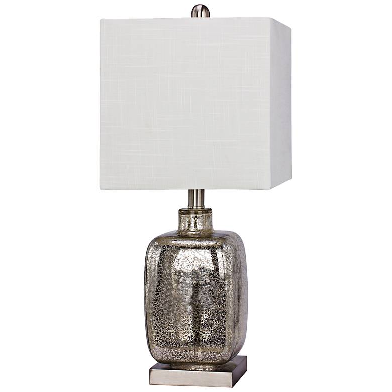 Amasa Brushed Steel Glass and Metal Table Lamp