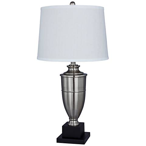Millport Brushed Steel Metal Urn Table Lamp