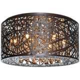 "ET2 Inca 15 3/4"" Wide Bronze LED Ceiling Light"