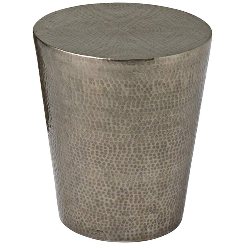 "Izmir 15 3/4"" Wide Hammered Antique Nickel Modern"