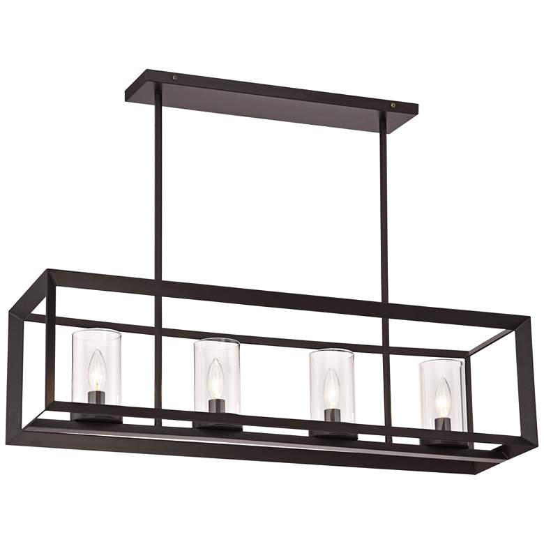 Cove Point 34 1 2 Wide Open Frame Rectangular Chandelier
