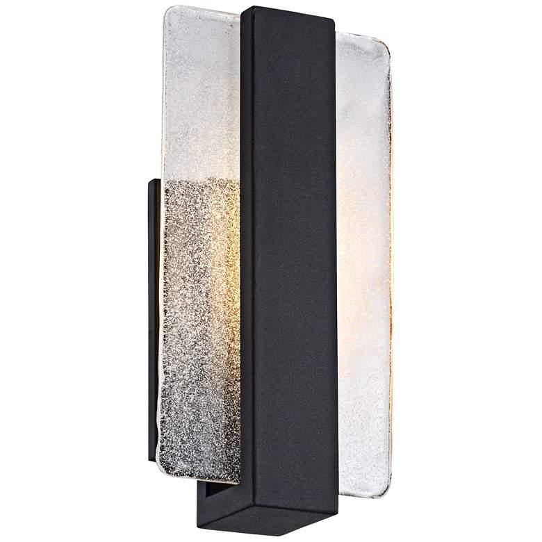 "Cascadia Piastra Glass 11 3/4"" High Black LED Wall Sconce"