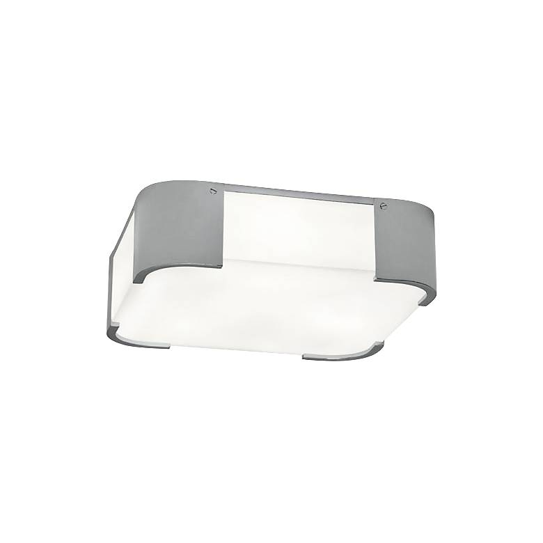 """Robert Abbey Bryce 14"""" Wide Chrome Square Ceiling Light"""