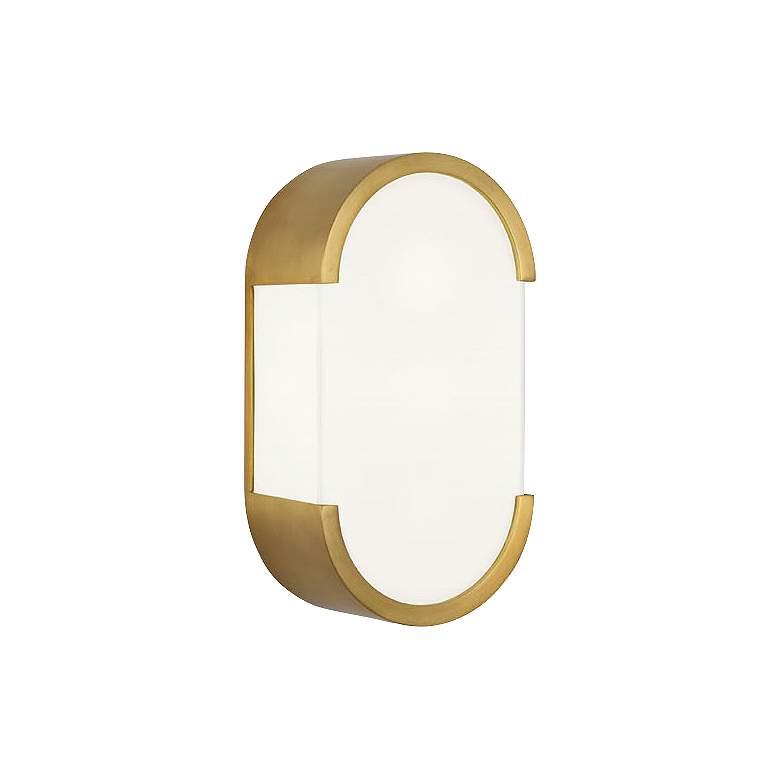 """Robert Abbey Bryce 12 1/4""""H Brass Modern Wall"""