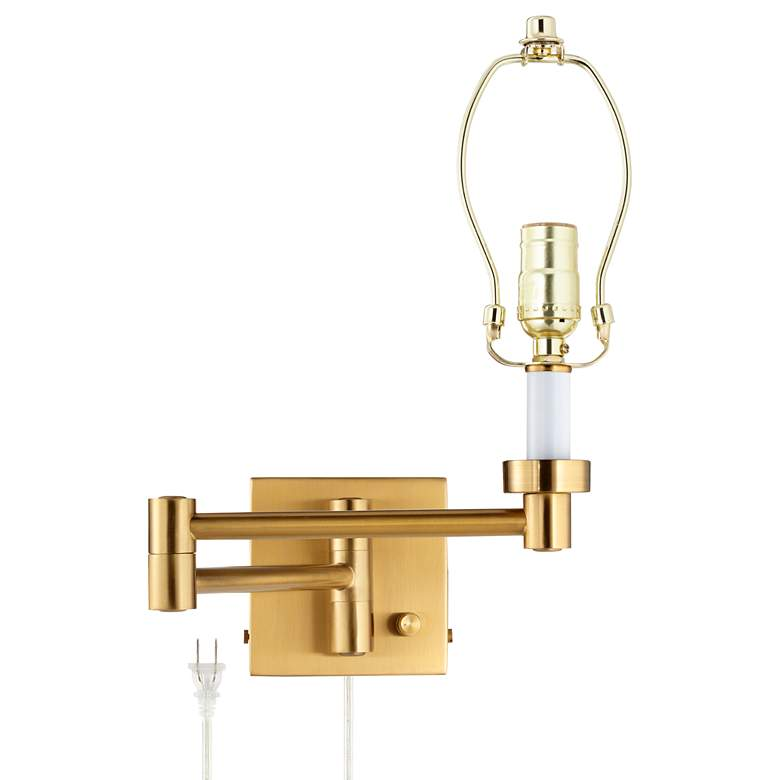 Alta Square Antique Brass Swing Arm Wall Lamp