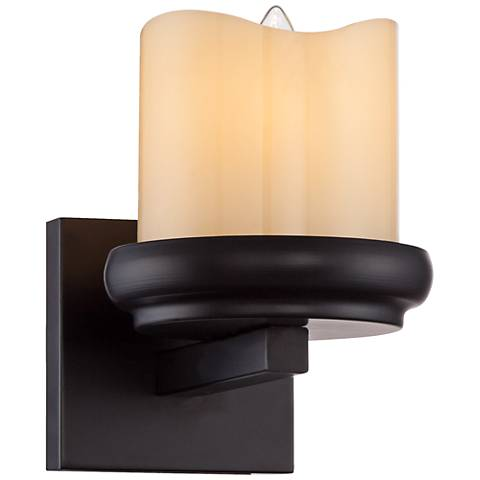 """Augusta 7 1/4"""" High Rustic Bronze Wall Sconce"""