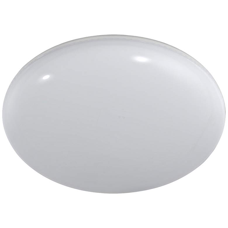 Motion Sensor Dusk-to-Dawn LED Flushmount Button Light