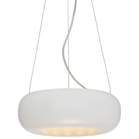 "Possini Euro Brazos White 9 3/4""W LED Mini Pendant Light"