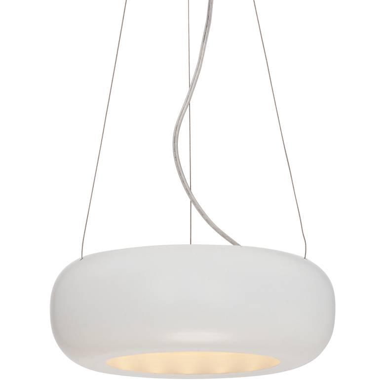 """Possini Euro Brazos White 9 3/4""""W LED Mini Pendant Light"""