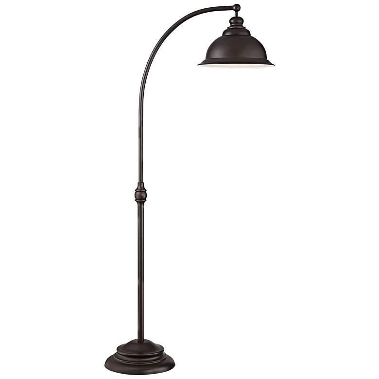 Wyatt II Dark Bronze Arc Floor Lamp