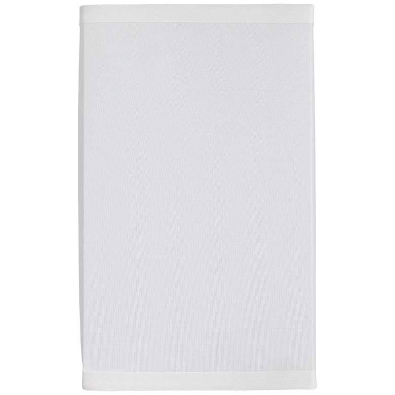 "1F218 - 5.5""x5.5""x9"" Square White Linen Shade"