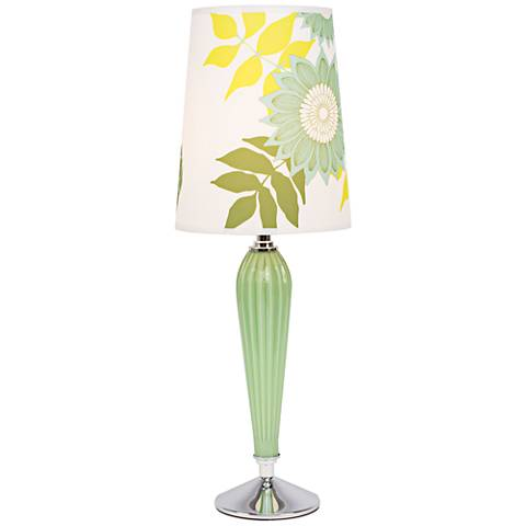 Colette Apple Glass Table Lamp with Anna Green Shade