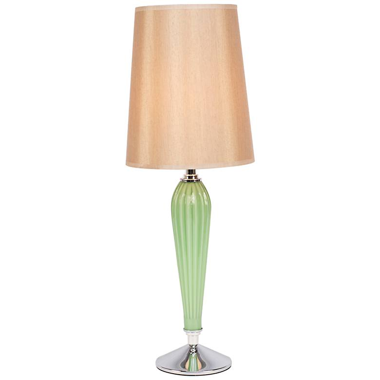 Colette Apple Glass Table Lamp with Croissant Glow Shade