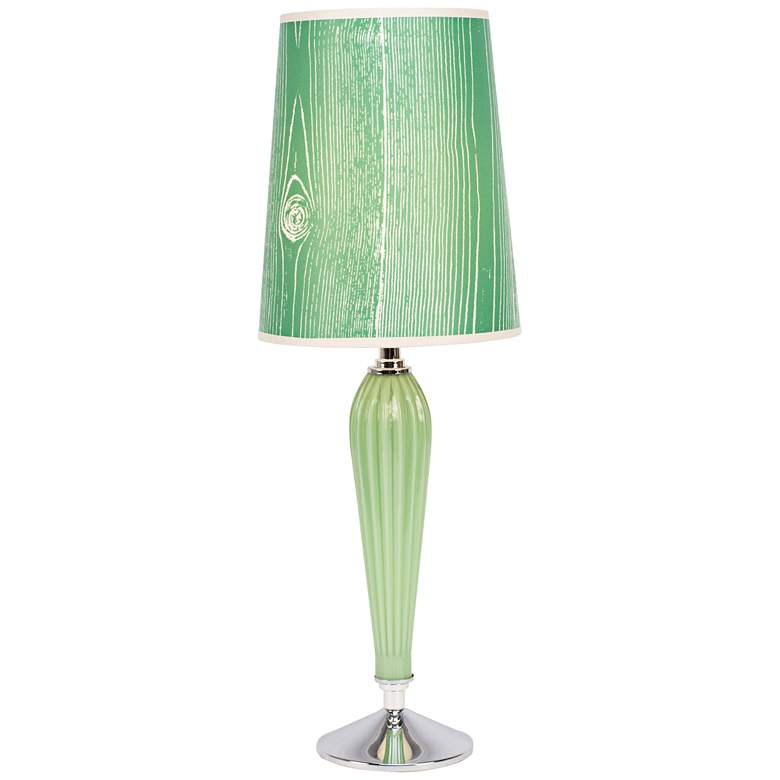 Colette Apple Glass Table Lamp with Faux Bois