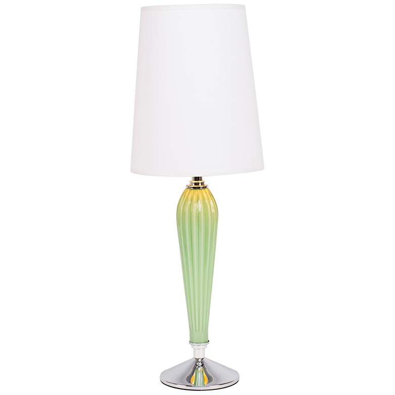Colette Apple Glass Table Lamp with White and