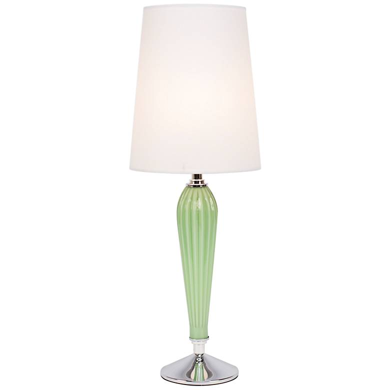 Colette Apple Glass Table Lamp with White Parchment Shade