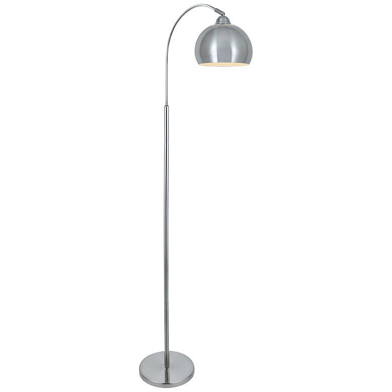 Lite Source Palesa Polished Steel Metal Floor Lamp