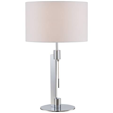 Lite Source Catriona Chrome Metal Table Lamp