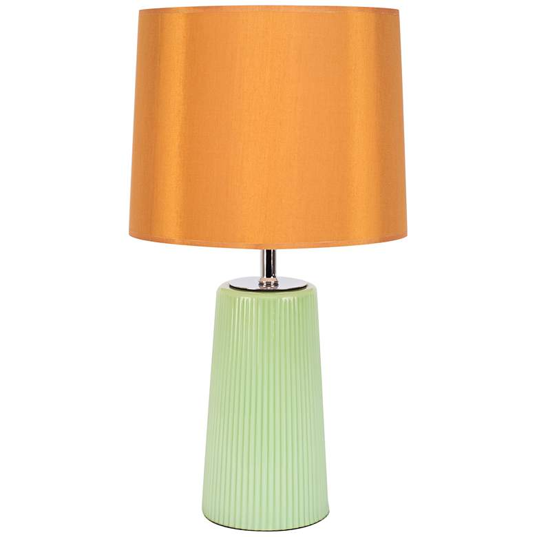 Martha Apple Glass Table Lamp with Gold Shade