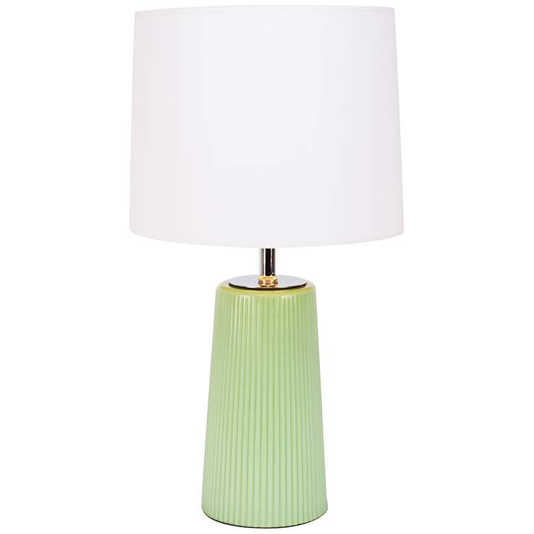 Martha Apple Glass Table Lamp with White and