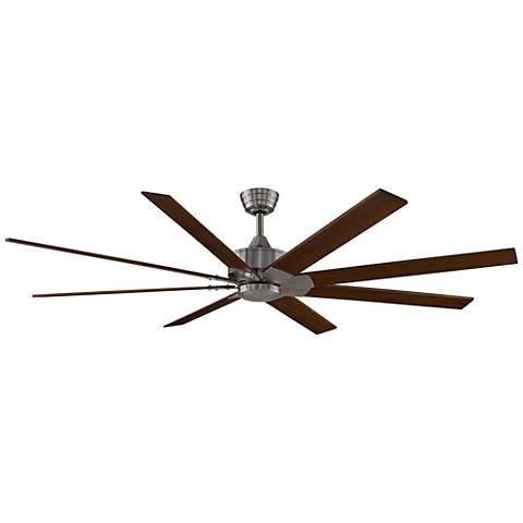 "72"" Levon DC Brushed Nickel - Cherry/Walnut Ceiling Fan"